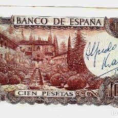Billetes con errores: BILLETE 100 PTAS 1.970. CON FIRMA DE ALFREDO KRAUS. Lote 190753763