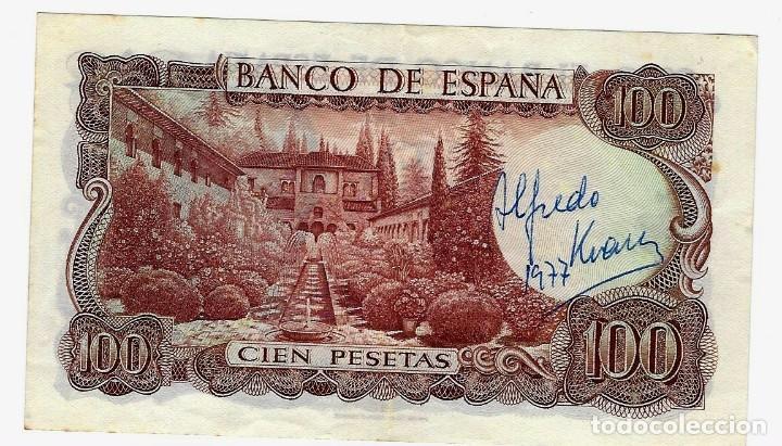 BILLETE 100 PTAS 1.970. CON FIRMA DE ALFREDO KRAUS (Numismática - Notafilia - Variedades y Errores)