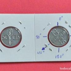 Billetes con errores: ## ERROR - 50 CENT 1966+68 REVERSO GIRADO 125º ##. Lote 193361546