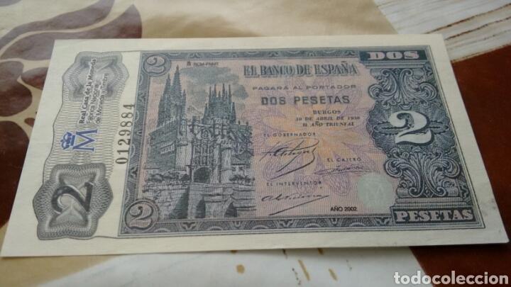 REPRODUCCIÓN AUTORIZADA FNMT ESPAÑA BILLETE 2 PESETAS 1938 (Numismática - Notafilia - Variedades y Errores)