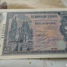 Billetes con errores: REPRODUCCIÓN AUTORIZADA FNMT ESPAÑA BILLETE 2 PESETAS 1938. Lote 193681127