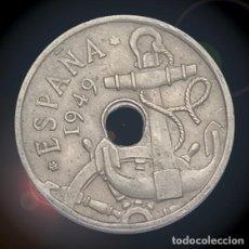 Billetes con errores: ERROR DOBLE TALADRO 50 CÉNTIMOS 1949 ESTADO ESPAÑOL ESTRELLAS 19 ** FRANCO. Lote 194324566
