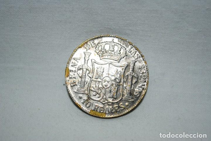 Billetes con errores: ISABEL II , 10 REALES . 1861 - Foto 2 - 194332421