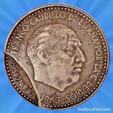 Billetes con errores: 1 PESETA 1963 ESTRELLAS 19 63 FALLO EN EL COSPEL ERROR ROTO. Lote 194884622