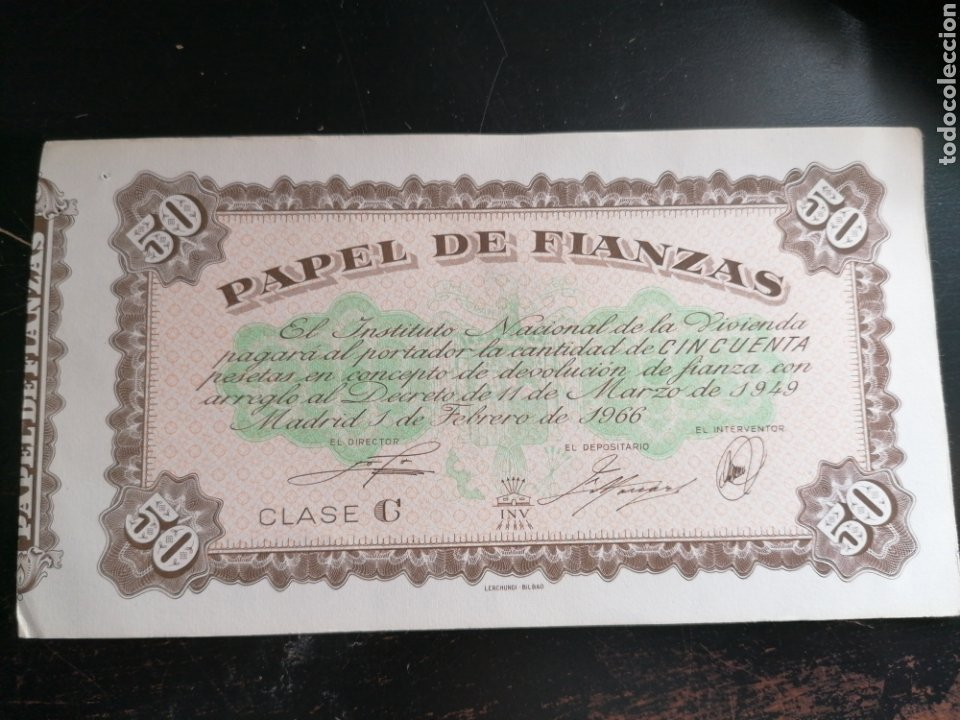 Billetes con errores: Billete Fianzas 50 pesetas 1966 - Foto 1 - 195075306