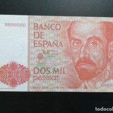 Billetes con errores: ESPAÑA. 2.000 PESETAS. REPRODUCCIÓN AUTORIZADA.. Lote 197913257