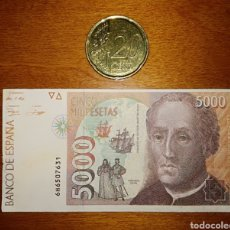 Billetes con errores: BILLETE FALSO DE 5000 PESETAS EN MINIATURA. Lote 199432056
