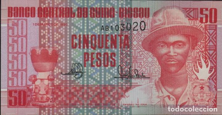 GUINEA BISSAU 50 PESOS 1990 UNC (Numismática - Notafilia - Variedades y Errores)