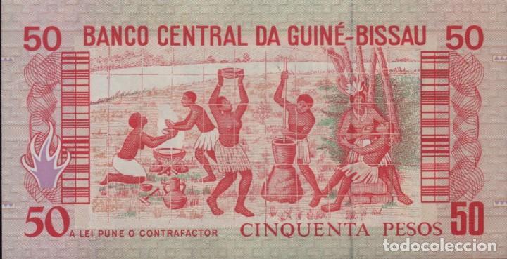 Billetes con errores: GUINEA BISSAU 50 PESOS 1990 UNC - Foto 2 - 200828101