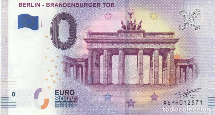 BILLETE SOUVENIR 0 EUROS PUERTA DE BRADENBURGO 2019 (Numismática - Notafilia - Variedades y Errores)
