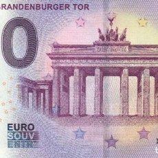 Billetes con errores: BILLETE SOUVENIR 0 EUROS PUERTA DE BRADENBURGO 2019. Lote 205379540