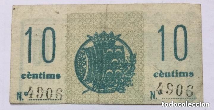 Billetes con errores: BILLETE VALE 10 CENTIMOS DE PESETA - CASALS - GORRISTA - BERGA - ERROR DE IMPRESION -DESPLAZADO RARO - Foto 2 - 205779965