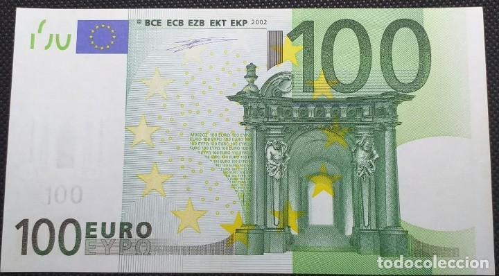 BILLETE DE 100 € FALLO DE IMPRESIÓN AL NO TENER HOLOGRAMA AÑO 2OO2 (Numismática - Notafilia - Variedades y Errores)