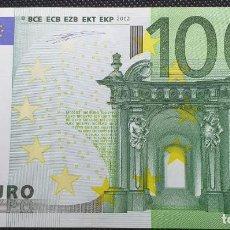 Billetes con errores: BILLETE DE 100 EUROS FALLO DE IMPRESIÓN AL NO TENER ANAGRAMA AÑO 2OO2. Lote 205791317