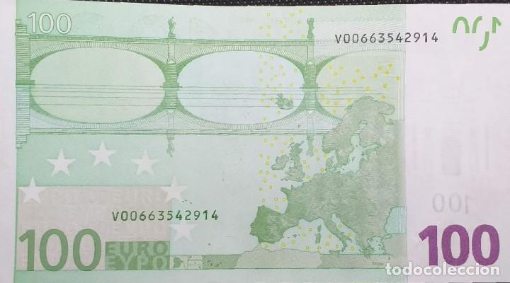 Billetes con errores: BILLETE DE 100 € FALLO DE IMPRESIÓN AL NO TENER holograma AÑO 2OO2 - Foto 2 - 205791317