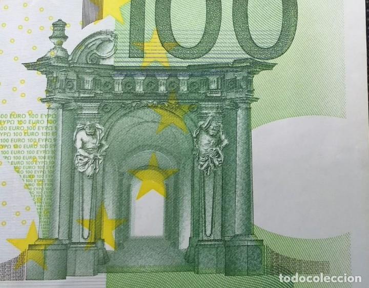Billetes con errores: BILLETE DE 100 € FALLO DE IMPRESIÓN AL NO TENER holograma AÑO 2OO2 - Foto 3 - 205791317