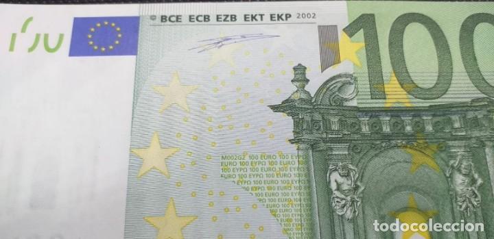 Billetes con errores: BILLETE DE 100 € FALLO DE IMPRESIÓN AL NO TENER holograma AÑO 2OO2 - Foto 4 - 205791317