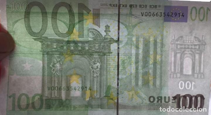 Billetes con errores: BILLETE DE 100 € FALLO DE IMPRESIÓN AL NO TENER holograma AÑO 2OO2 - Foto 6 - 205791317