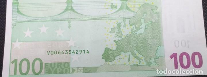 Billetes con errores: BILLETE DE 100 € FALLO DE IMPRESIÓN AL NO TENER holograma AÑO 2OO2 - Foto 7 - 205791317