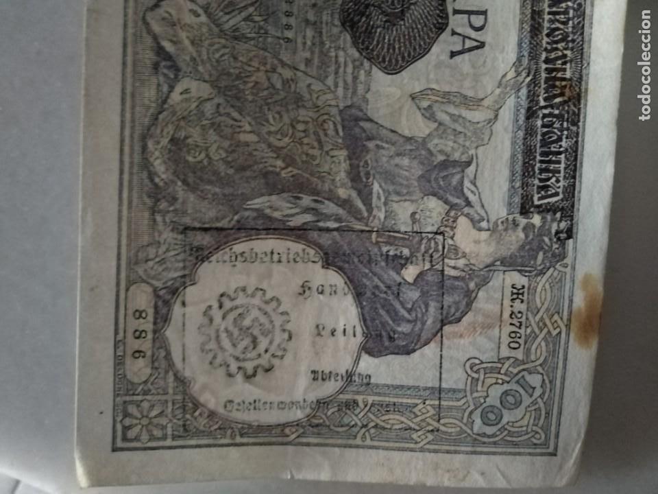 Billetes con errores: GRAN BILLETE CON SELLO NAZI ESVASTICA - Foto 2 - 206278383
