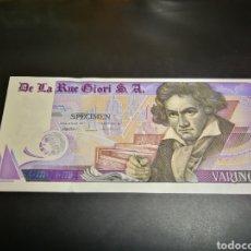 Billetes con errores: 1 VARINOTA DE LA RUE GIORI BEETHOVEN. Lote 208054888