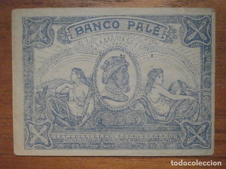 Billetes con errores: ANTIGUO BILLETE 100 PESETAS - BANCO PALÉ - ANTIGUO JUEGO . - Foto 3 - 208328326