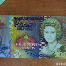 Banconote con errori: ISLAS PITCAIRN. 100 LIBRAS. BILLETES DE FANTASÍA (NO REAL). UNC!!. Lote 212272337