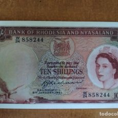 Banconote con errori: RHODESÍA Y NYASALAND. 10 PENIQUES 1961 (REPRODUCCIÓN) UNC. Lote 212272797