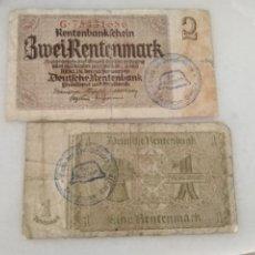 Billetes con errores: BILLETES ALEMANES SEGUNDA GUERRA MUNDIAL SELLO NAZI RAROS. Lote 213466678