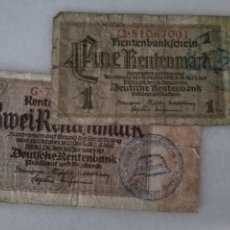 Billetes con errores: BILLETES ALEMANIA SEGUNDA GUERRA MUNDIAL RESELLO CASCO NAZI. Lote 221968502