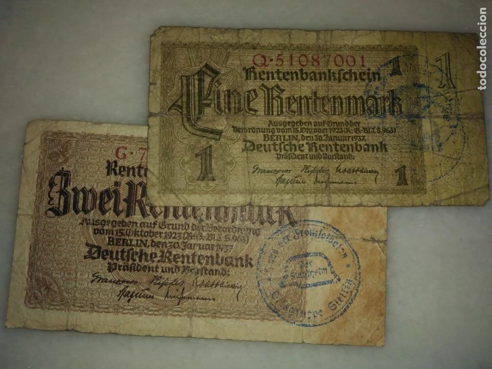 Billetes con errores: BILLETES ALEMANIA SEGUNDA GUERRA MUNDIAL RESELLO CASCO NAZI - Foto 2 - 221968502