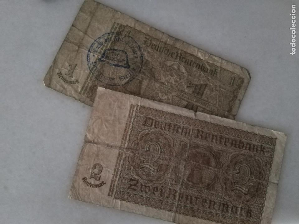 Billetes con errores: BILLETES ALEMANIA SEGUNDA GUERRA MUNDIAL RESELLO CASCO NAZI - Foto 3 - 221968502