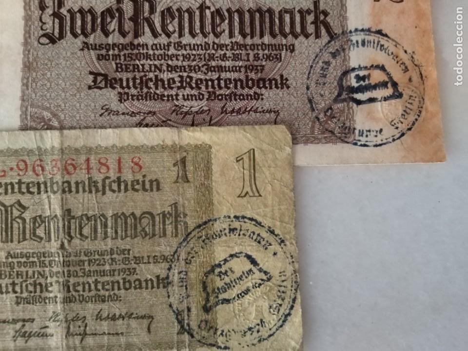 Billetes con errores: LOTE BILLETES ALEMANES SEGUNDA GUERRA MUNDIAL RESELLO CASCO NAZI - Foto 2 - 222109953