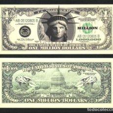 Banconote con errori: USA , BILLETE DE 1 MILLON DE DOLARES $ 1.000.000 $ - ONE MILLION DOLLARS - PLANCHA.SERIES 2003 ... Lote 224588487