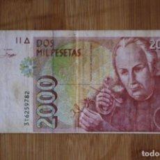 Billetes con errores: BILLETE DE 2000 PESETAS CON FALLO DE CORTE Y ENCUADRE. Lote 224773052