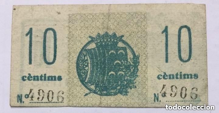 Billetes con errores: BILLETE VALE 10 CENTIMOS DE PESETA - CASALS - GORRISTA - BERGA - ERROR DE IMPRESION DESPLAZADO RARO - Foto 2 - 226593485