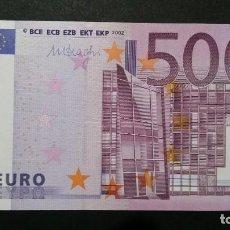 Billetes con errores: AUSTRIA-BILLETE- 500 EUROS 2002 DRAGHI N-F007 SC UNC ( T043 ). Lote 237375205