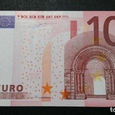 Billetes con errores: ESPAÑA - BILLETE- 10 EUROS 2002 DUISENBERG V-G005 DIFICIL SC UNC ( T054 ). Lote 237378495