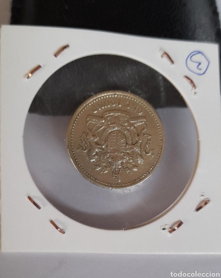 Billetes con errores: Moneda Variante 1 POUND 1983 Inglaterra DECUS al revés en canto - Foto 3 - 239547670