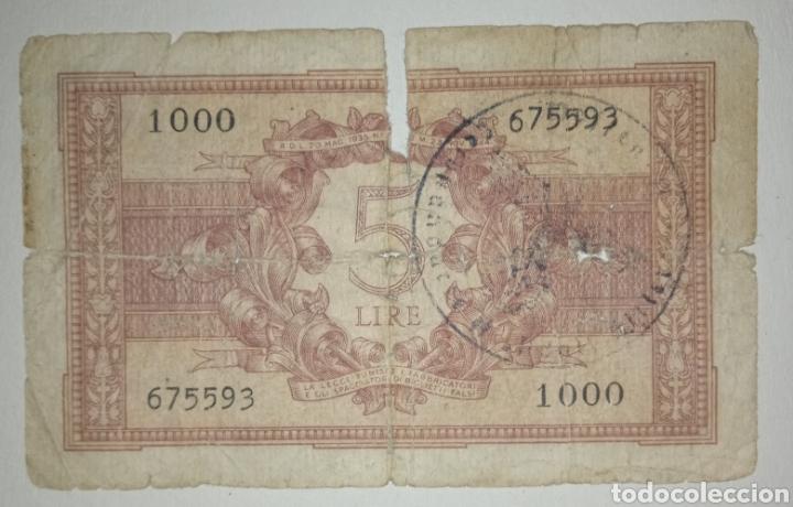 Billetes con errores: B-1.1 BILLETE SEGUNDA GUERRA MUNDIAL. OCUPACIÓN NAZI EN ITALIA - Foto 2 - 241158450