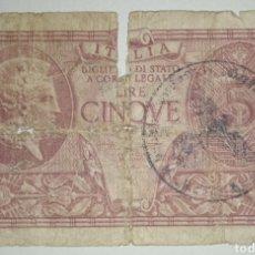 Billetes con errores: BILLETE SEGUNDA GUERRA MUNDIAL. OCUPACIÓN NAZI EN ITALIA. Lote 241158450