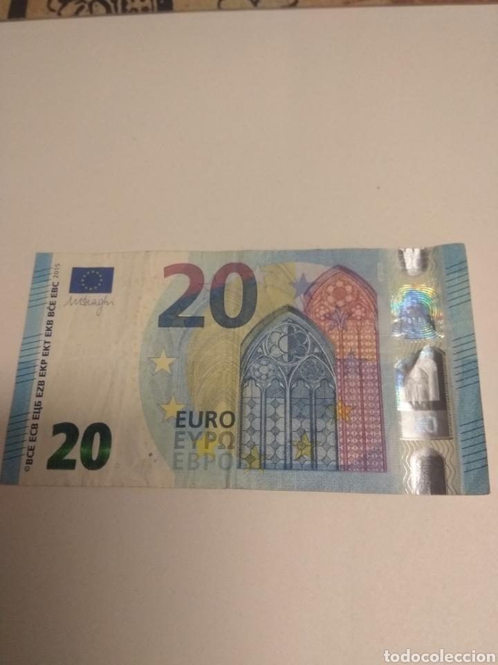 Billetes con errores: Billete 20 Euros Error Impresion - Foto 2 - 248099795