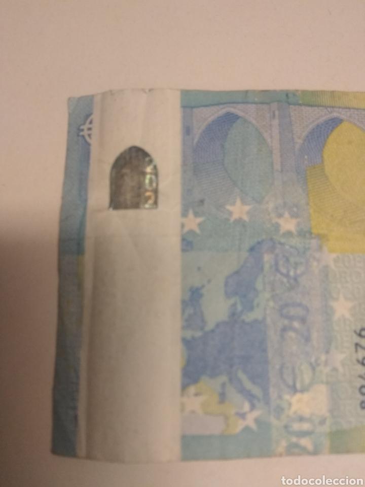Billetes con errores: Billete 20 Euros Error Impresion - Foto 3 - 248099795