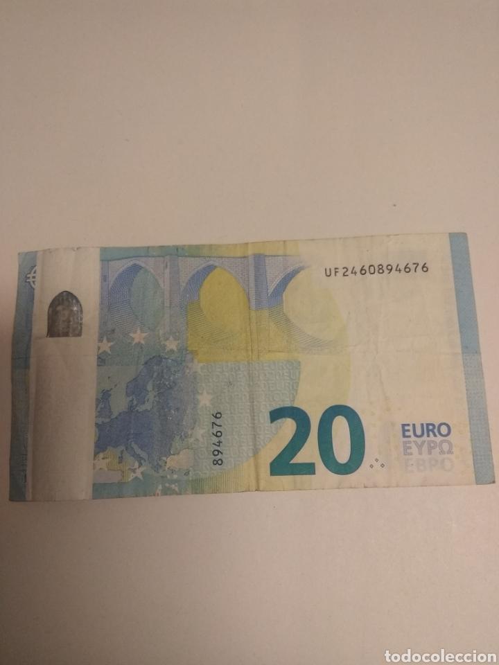 BILLETE 20 EUROS ERROR IMPRESION (Numismática - Notafilia - Variedades y Errores)