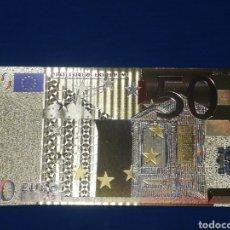 Banconote con errori: BILLETE 50€ EN LAMINA DORADA CON COLOR. Lote 264269376