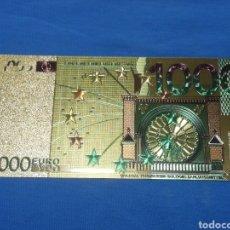 Banconote con errori: BILLETE 1000€ EN LAMINA DORADA CON COLOR. Lote 264269912