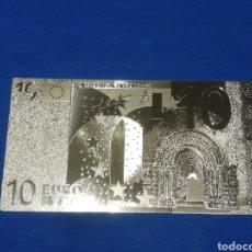 Banconote con errori: BILLETE DE 10€ EN LAMINA DORADA. Lote 264270356