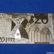 Banconote con errori: BILLETE DE 20€ EN LAMINA DORADA. Lote 264270512