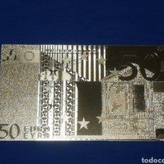 Banconote con errori: BILLETE 50€ EN LAMINA DORADA. Lote 264270624