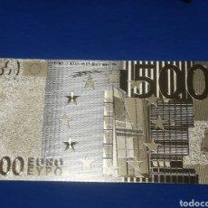 Banconote con errori: BILLETE DE 500€ EN LAMINA DORADA. Lote 264271184